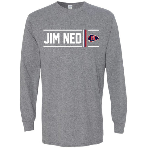 Jim Ned Indians - Simple Stripe Long Sleeve T-Shirt