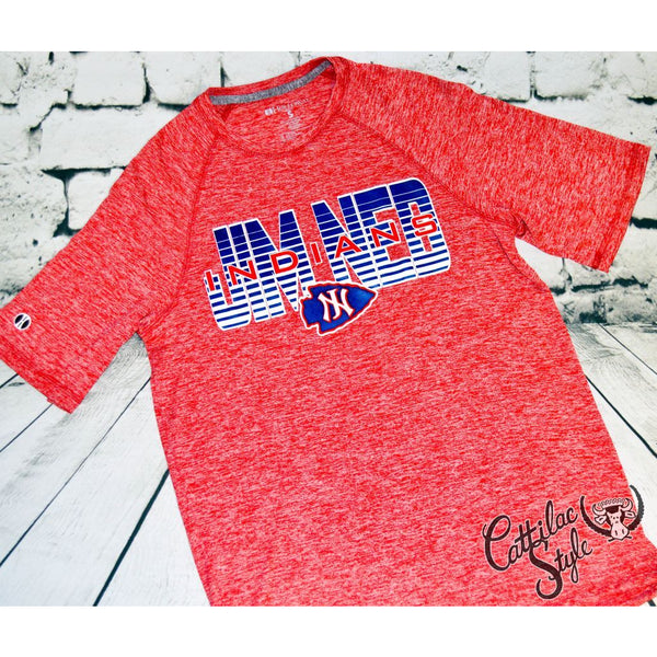 Jim Ned Indians - Heather Wicking T-Shirt