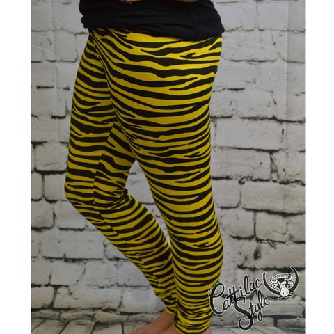 Black & Gold Tiger Leggings