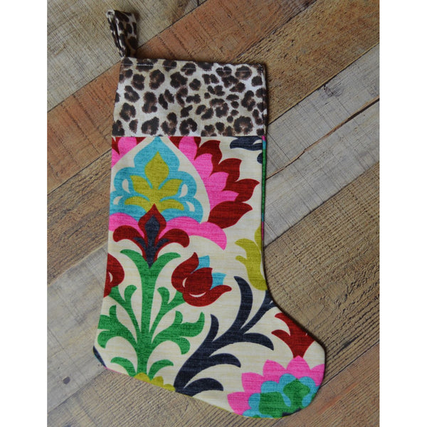 Paisley and Leopard Stocking
