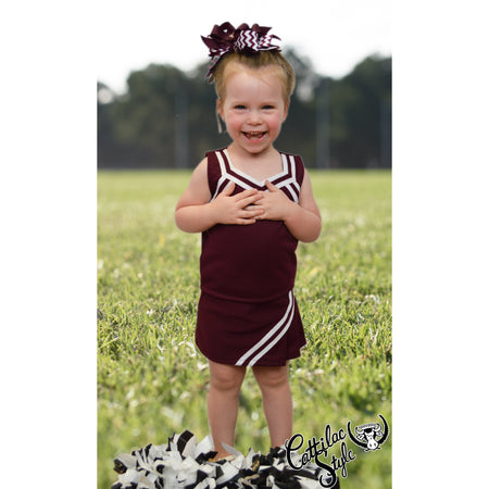 Maroon & White Cheer Suit