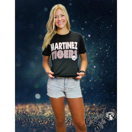 Martinez Tigers - Stripes & Dots T-Shirt