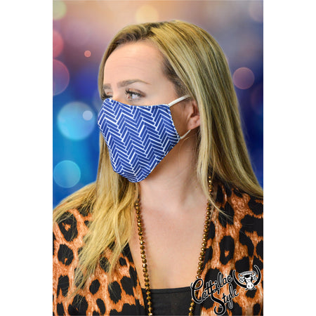 Reversible Mask - Navy & White