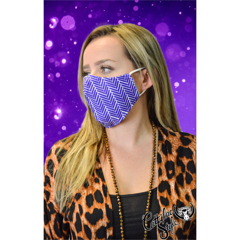 Reversible Mask - Purple & White