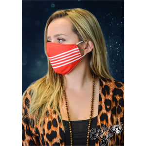 Reversible Mask - Red & White