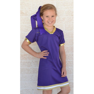 Cheer Dress - Purple & Gold