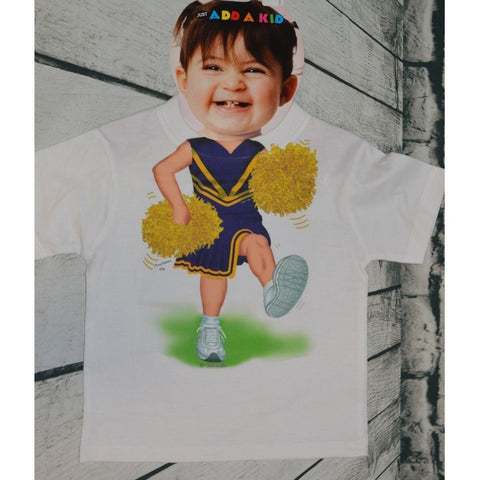Purple & Gold Cheerleader T-Shirt