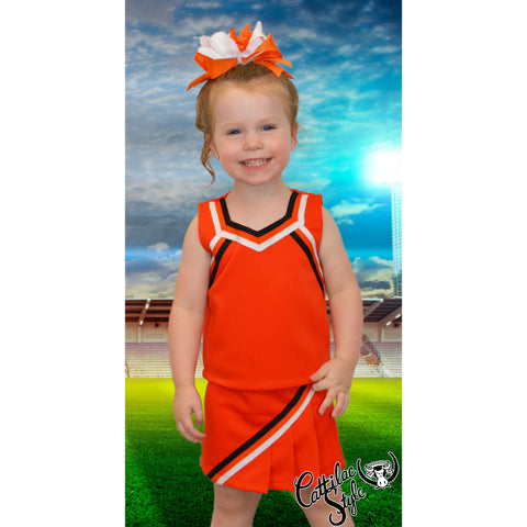 Orange & White Cheer Suit