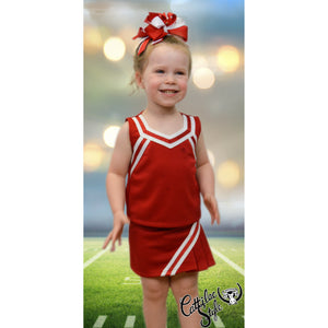 Red & White Cheer Suit