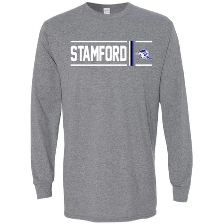 Stamford Bulldogs - Simple Stripe Long Sleeve T-Shirt