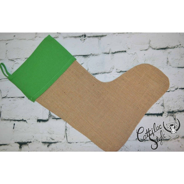 Jute Stocking with Green