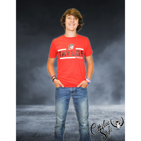 Taylor Trojans - Striped T-Shirt