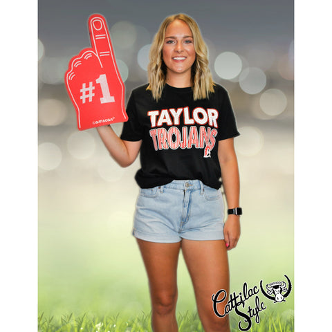 Taylor Trojans - Stripes & Dots T-Shirt