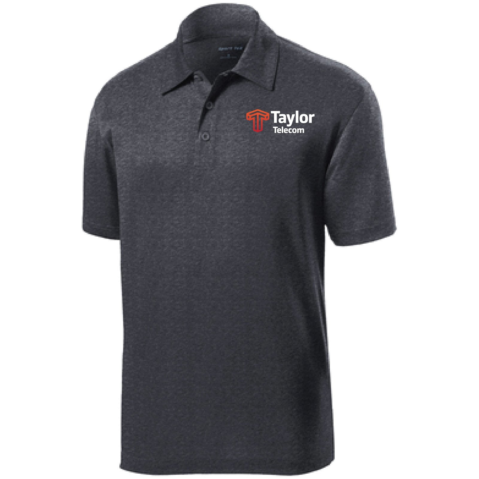 Taylor Telecom Short-Sleeve Heather Polo Shirt