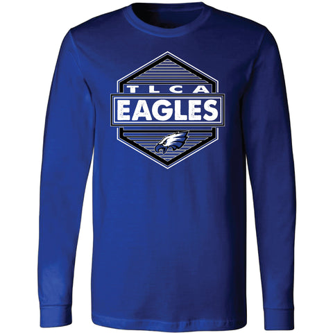 TLCA Eagles - Hexagon Long Sleeve T-Shirt