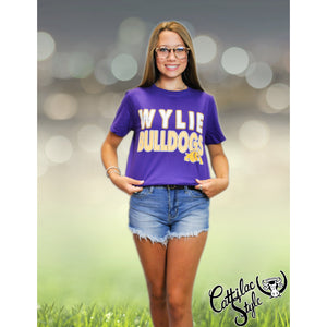 Wylie Bulldogs - Stripes & Dots T-Shirt