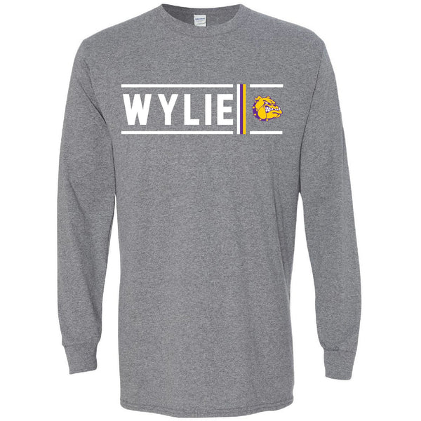Wylie Bulldogs - Simple Stripe Long Sleeve T-Shirt