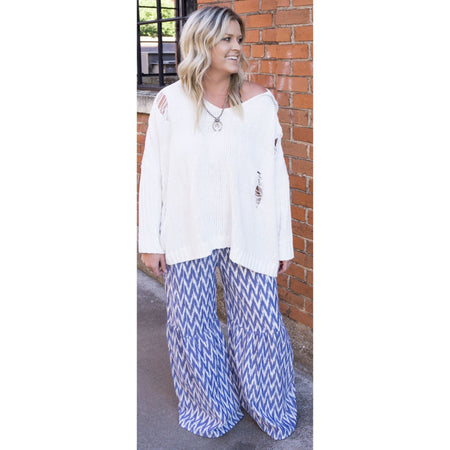 Blue Zag Bell Bottoms