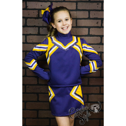 Purple & Gold Cheer Suit