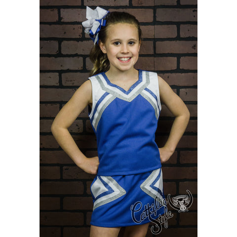Blue & White Cheer Suit