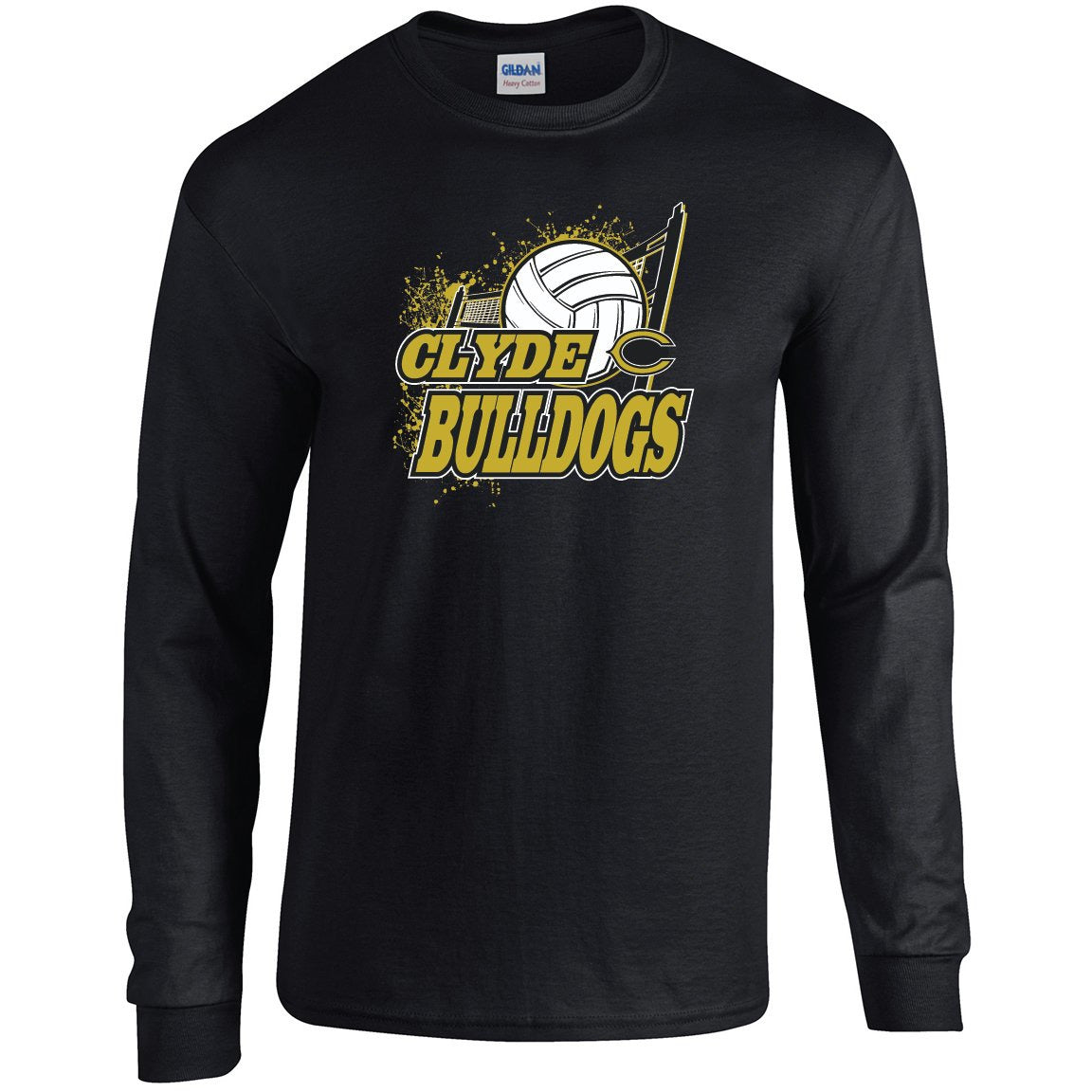 Clyde Bulldogs - Volleyball Long Sleeve T-Shirt