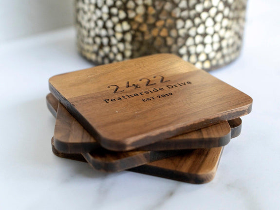 Modern Address Coasters - 040