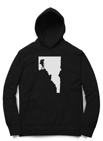 Idaho Woman Hiker Hooded Pullover