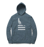 Idaho Flag Hooded Pullover