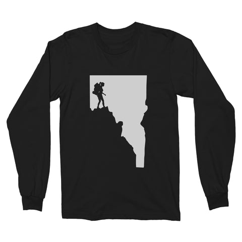 Idaho Woman Hiker Long Sleeve T-Shirt