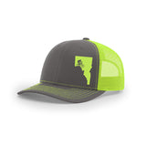 Idaho Mtn. Biker Curved Bill Trucker Hat