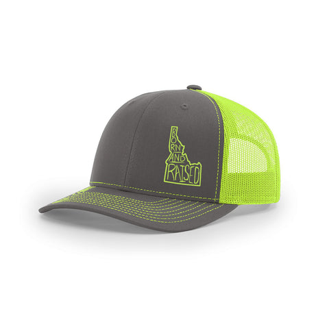 Born and Raised Curved Bill Trucker Hat