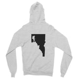 Idaho Woman Hiker Zip-Up Hoodie