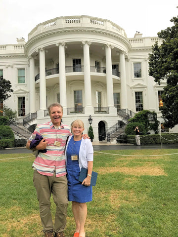 Sue and Paul on the White House lawn