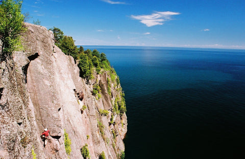 Shovel Point rock climbing Minnesota. Ely, MN. ActiveEly. Rock Climbing northern Minnesota.