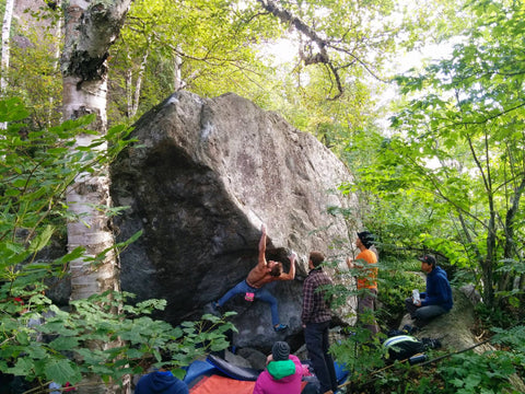 rock climbing northern minnesota. Ely, MN Sawmill creek dome.