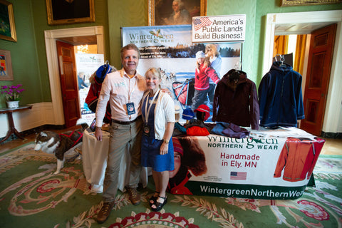 Sue and Paul with their Wintergreen display. Photo courtesy of the White House.
