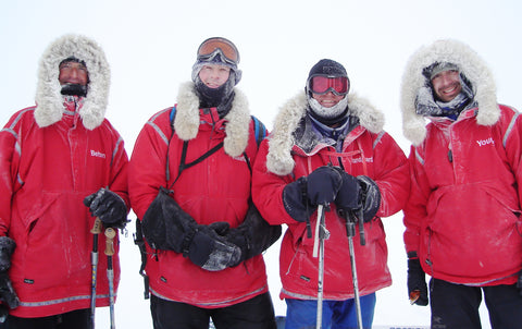 North Pole expedition team wearing Wintergreen anoraks.
