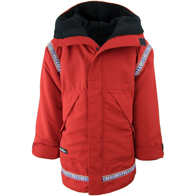 Wintergreen Northern Wear Anorak 3/4 / Red Shell (Uppland Trim) Combo Anorak (Kid's) winter camping clothing clothing for winter camping made in america clothing made in america made in minnesota minnesota made hand made clothing outdoor outdoor clothing american made clothing dogsledding clothing for dogsledding winter clothing canoe clothing clothing for canoeing minnesota ely hand crafted clothing hand made outdoor clothing conscious closet conscious consumer buy local locally made