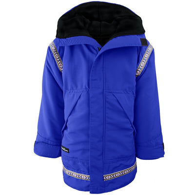 Wintergreen Northern Wear Anorak 3/4 / Royal Blue Shell (Uppland Trim) Combo Anorak (Kid's) winter camping clothing clothing for winter camping made in america clothing made in america made in minnesota minnesota made hand made clothing outdoor outdoor clothing american made clothing dogsledding clothing for dogsledding winter clothing canoe clothing clothing for canoeing minnesota ely hand crafted clothing hand made outdoor clothing conscious closet conscious consumer buy local locally made
