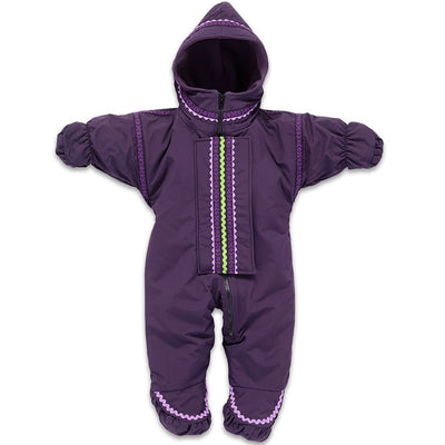 Wintergreen Northern Wear Baby & Toddler ONE / Amethyst Shell (Viking Trim) Infant Polar Express Suit winter camping clothing clothing for winter camping made in america clothing made in america made in minnesota minnesota made hand made clothing outdoor outdoor clothing american made clothing dogsledding clothing for dogsledding winter clothing canoe clothing clothing for canoeing minnesota ely hand crafted clothing hand made outdoor clothing conscious closet conscious consumer buy local locally made