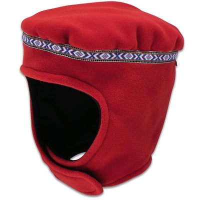 Wintergreen Northern Wear Hat Small / Red (Uppland Trim) Expedition Fleece Hat (Kid's) winter camping clothing clothing for winter camping made in america clothing made in america made in minnesota minnesota made hand made clothing outdoor outdoor clothing american made clothing dogsledding clothing for dogsledding winter clothing canoe clothing clothing for canoeing minnesota ely hand crafted clothing hand made outdoor clothing conscious closet conscious consumer buy local locally made