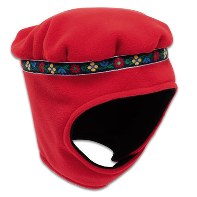 Wintergreen Northern Wear Hat X-Small / Red (Lorelei Trim) Polar Express Expedition Fleece Hat (Kid's) winter camping clothing clothing for winter camping made in america clothing made in america made in minnesota minnesota made hand made clothing outdoor outdoor clothing american made clothing dogsledding clothing for dogsledding winter clothing canoe clothing clothing for canoeing minnesota ely hand crafted clothing hand made outdoor clothing conscious closet conscious consumer buy local locally made