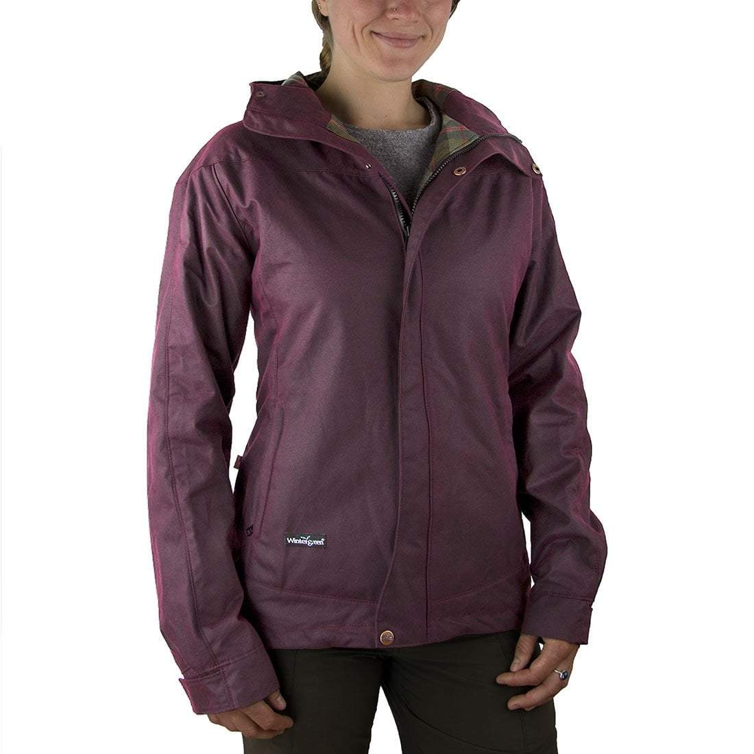 Wintergreen Northern Wear Jacket New! Waxed Cotton Echo Trail Jacket Lined (Women's) clothing made in america minnesota made outdoor clothing ely hand made outdoor clothing Made in USA