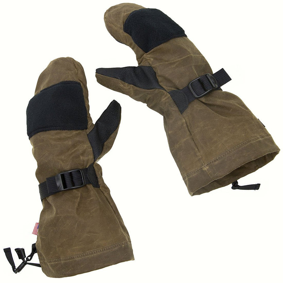 Wintergreen Northern Wear Mittens XS / Olive New! Waxed Cotton Shell Overmitts clothing made in america minnesota made outdoor clothing ely hand made outdoor clothing Made in USA