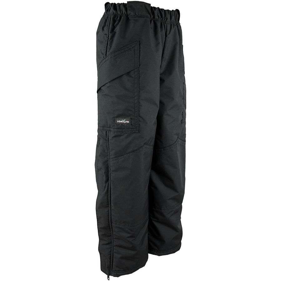 Wintergreen Northern Wear Pants 3/4 / Black Shell Guide Shell Pants (Kid's) winter camping clothing clothing for winter camping made in america clothing made in america made in minnesota minnesota made hand made clothing outdoor outdoor clothing american made clothing dogsledding clothing for dogsledding winter clothing canoe clothing clothing for canoeing minnesota ely hand crafted clothing hand made outdoor clothing conscious closet conscious consumer buy local locally made