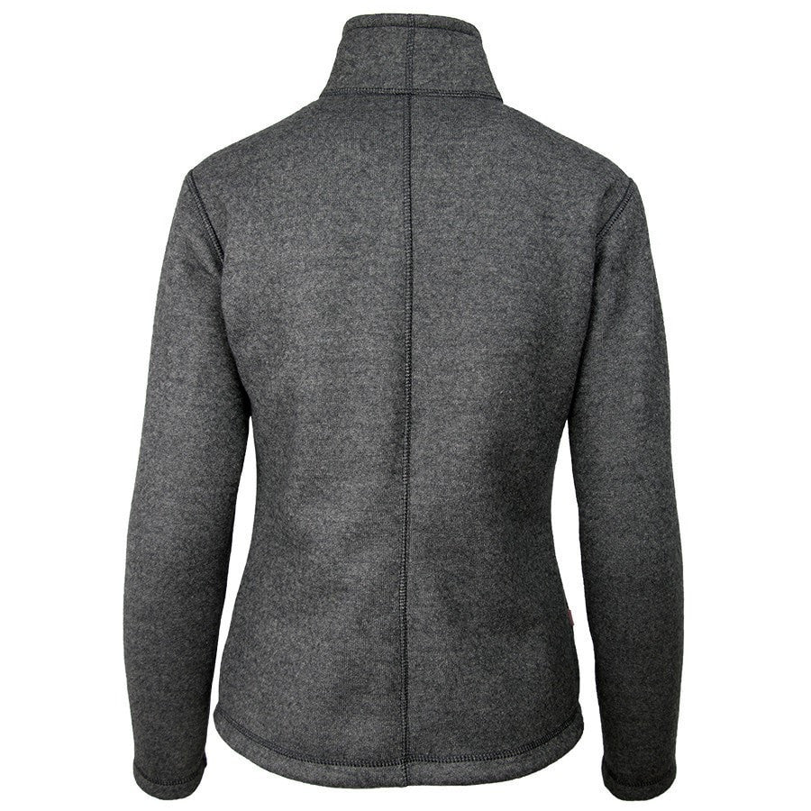 Wintergreen Northern Wear Top X-Small / Heather Gray / Regular Argo Cardigan (Women's) winter camping clothing clothing for winter camping made in america clothing made in america made in minnesota minnesota made hand made clothing outdoor outdoor clothing american made clothing dogsledding clothing for dogsledding winter clothing canoe clothing clothing for canoeing minnesota ely hand crafted clothing hand made outdoor clothing conscious closet conscious consumer buy local locally made