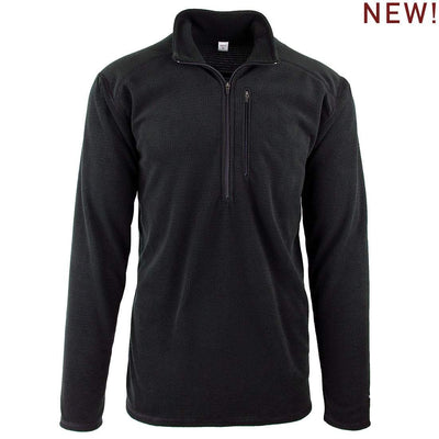 Wintergreen Northern Wear Top Small / Black Micro Grid New! Lightweight Micro Grid Fleece Portage Top (Men's)