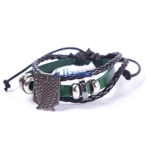 Attack on Titan (Shingeki No Kyojin) Cosplay Freedom Leather Bracelets - Bleuette Global