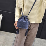 Women's Scrub Tassel Shoulder Bags - Bleuette Global