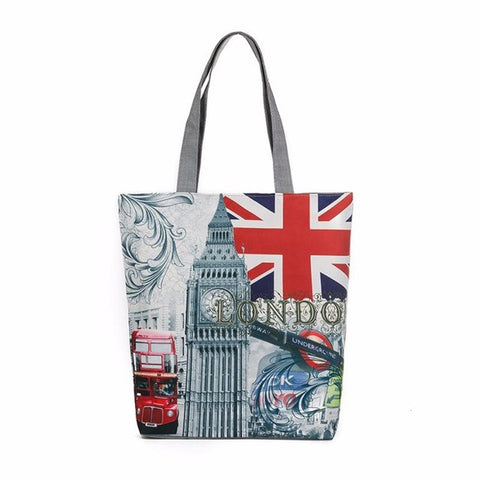 London Big Ben Canvas Tote Bag - Bleuette Global